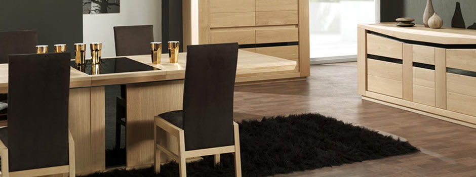 Salon complet en bois maison design for Salon salle a manger complet