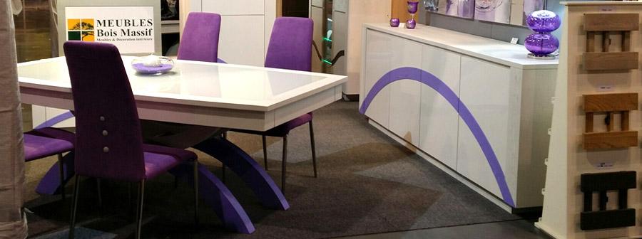 Salle manger originale et bi color arche meubles bois for Mobilier salle a manger contemporain