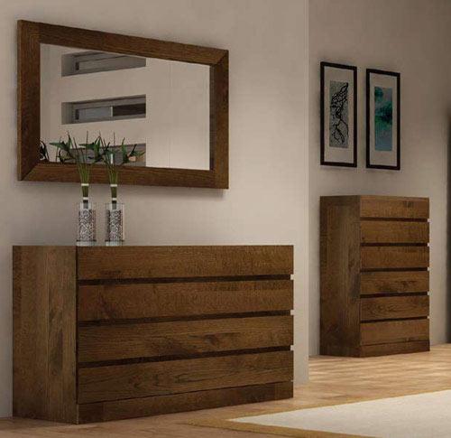 Chambre moderne bali en ch ne massif meubles bois massif for Chambre bois massif contemporain