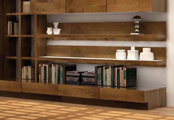 Salon ultra moderne bali en ch ne massif meubles bois massif for Sejour contemporain bois massif