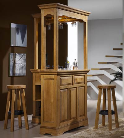 bar d 39 angle rustique bella en ch ne massif meubles bois. Black Bedroom Furniture Sets. Home Design Ideas