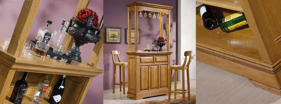 bar en ch ne massif bella mod le rustique meubles bois massif. Black Bedroom Furniture Sets. Home Design Ideas