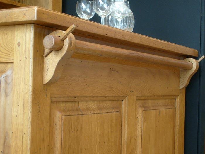 Bar campagne en ch ne comptoir derri re de bar meubles bois massif - Bar en bois massif ...