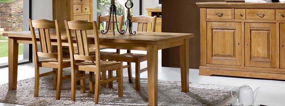 Exceptionnel Salle à manger en bois, meubles de repas - Meubles Bois Massif ZS63