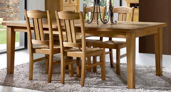 Salle manger bella 4 meubles rustiques meubles bois massif for Model de table a manger en bois