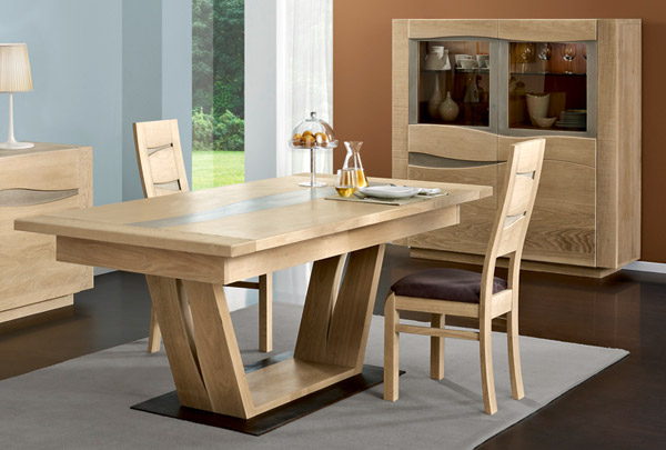 Model de table a manger en bois maison design for Modele salle a manger
