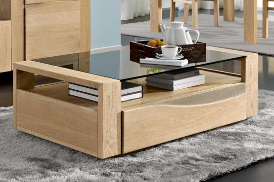 Salon En Bois Massif Cuire : Salon boléro en chêne meubles bois massif