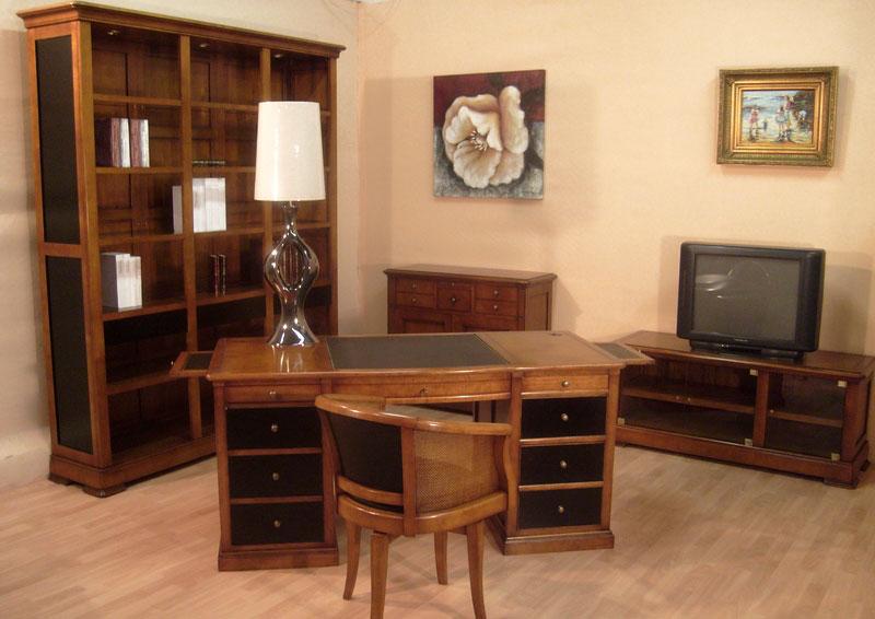 Bureau ministre en merisier bora meubles bois massif