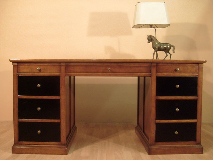 bureau ministre en merisier bora meubles bois massif. Black Bedroom Furniture Sets. Home Design Ideas