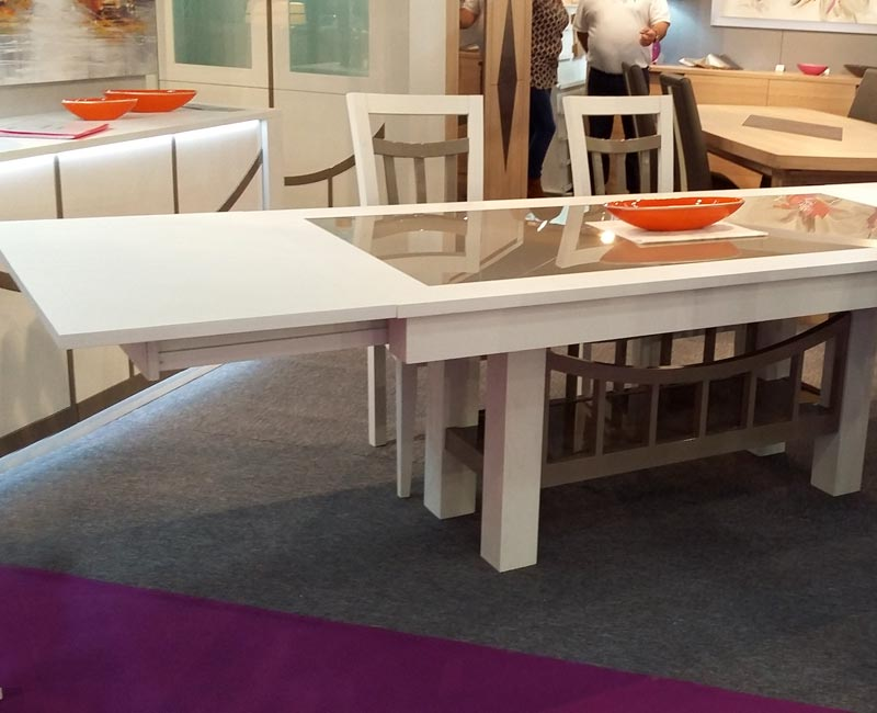 Salle manger originale bridge bois et verre meubles for Salle a manger originale