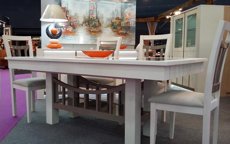 salle manger originale bridge bois et verre meubles bois massif. Black Bedroom Furniture Sets. Home Design Ideas