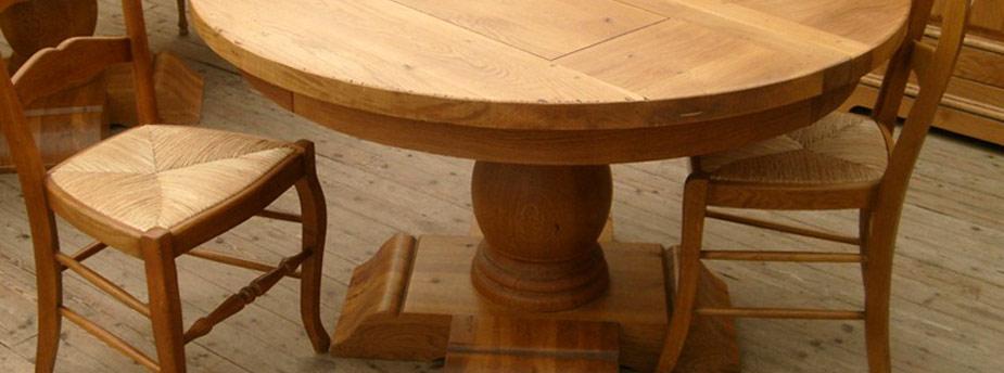 Mobilier rustique meubles bois massif - Meuble de salle a manger rustique ...