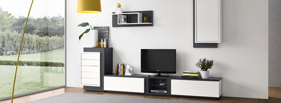 salon contemporain ch ne finition bois laqu meubles bois massif. Black Bedroom Furniture Sets. Home Design Ideas