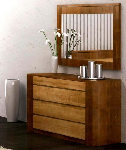 mobilier de chambre moderne figaro en ch ne meubles bois massif. Black Bedroom Furniture Sets. Home Design Ideas