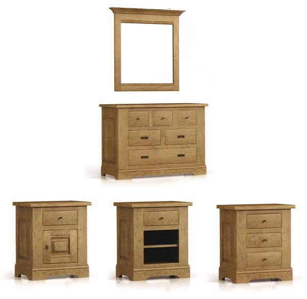 chambre sobre et rustique loop en ch ne meubles bois massif. Black Bedroom Furniture Sets. Home Design Ideas