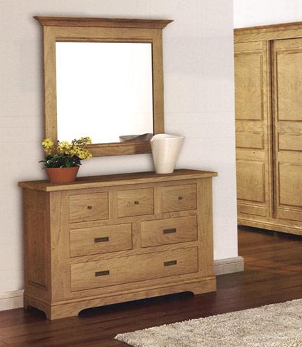 Chambre Rustique Chene Massif : Chambre sobre et rustique loop en chêne meubles bois massif