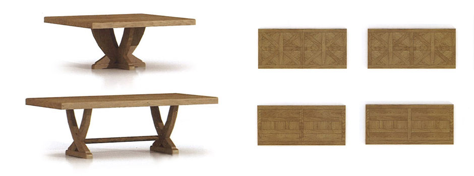 Table manger rustique loop en ch ne massif meubles for Table a manger moderne en bois
