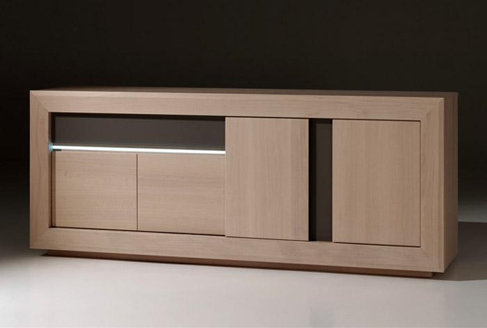 salle manger contemporaine malone en ch ne meubles bois massif. Black Bedroom Furniture Sets. Home Design Ideas