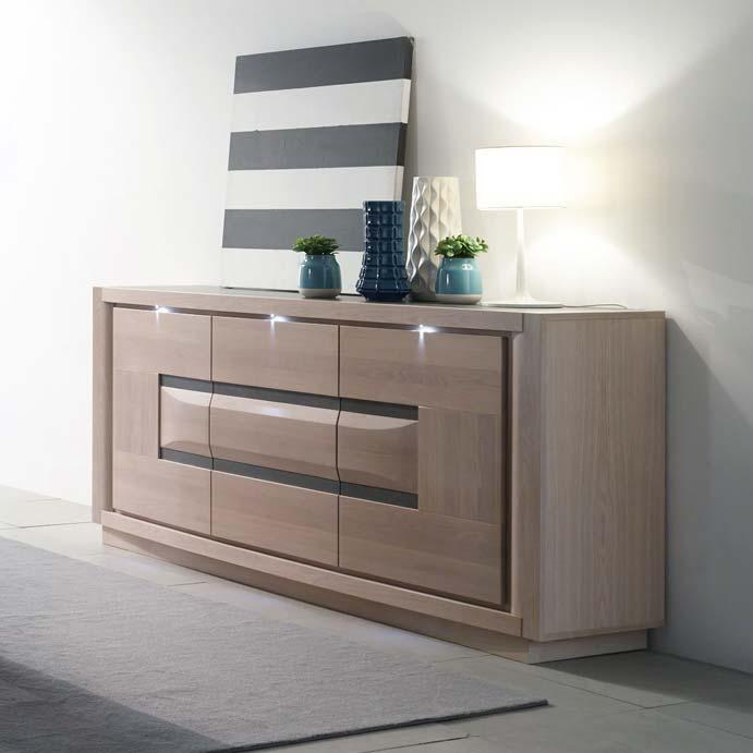 Meubles contemporains marina salle manger meubles bois massif - Meubles contemporains bois massif ...