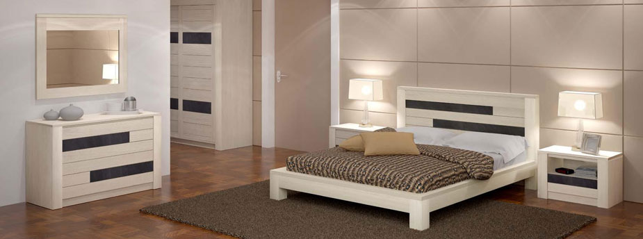 chambre a coucher en bois massif moderne. Black Bedroom Furniture Sets. Home Design Ideas