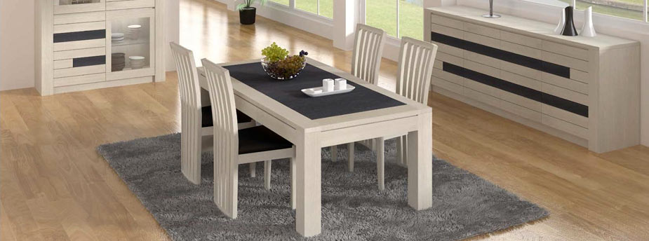 collection neova - Table Salle A Manger Gris Clair