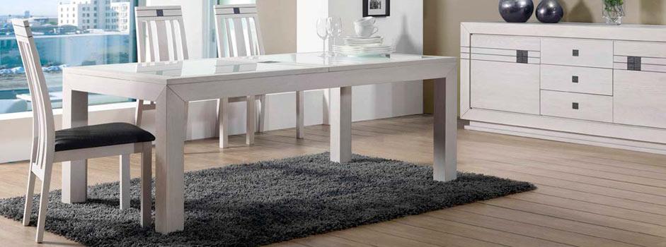 Salle manger en bois meubles de repas meubles bois massif for Salle a manger contemporaine chene blanchi