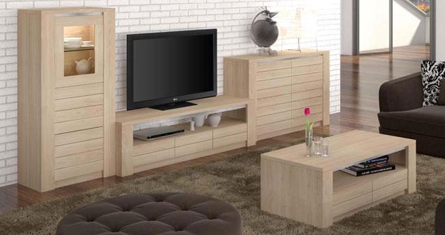 S jour moderne om ga ch ne ou fr ne meubles bois massif - Salon contemporain bois ...