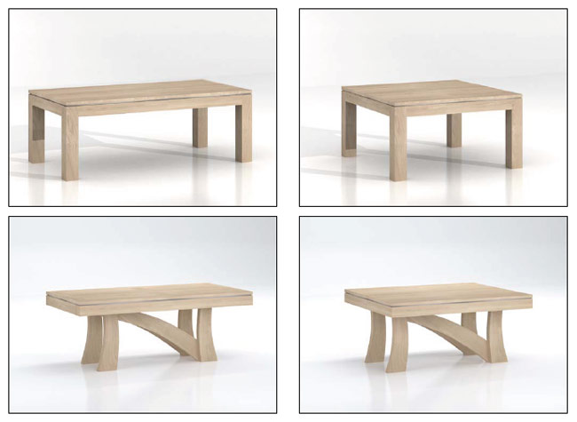 Mobilier moderne salle manger omega meubles bois massif for Mobilier salle a manger moderne