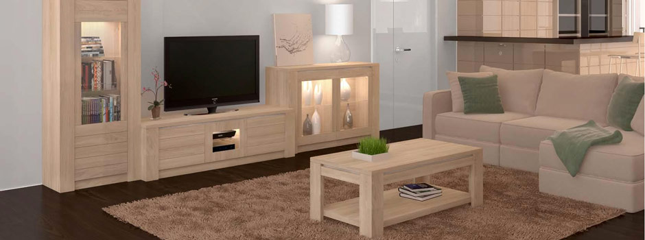 meuble pour salon en bois. Black Bedroom Furniture Sets. Home Design Ideas