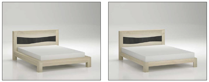 Mobilier de chambre contemporain ondine meubles bois massif for Chambre bois massif contemporain