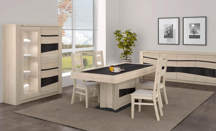Salle manger ondine d tail c ramique ou verre meubles for Meuble salle a manger bois