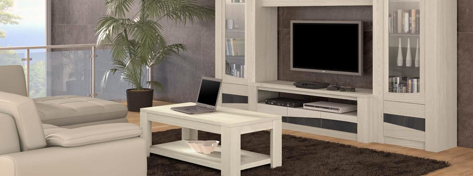 salon ondine en ch ne blanc c ramique et verre meubles. Black Bedroom Furniture Sets. Home Design Ideas
