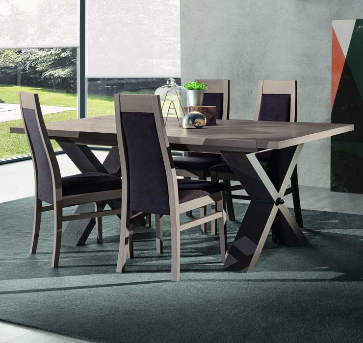 Mobilier salle manger orion en ch ne meubles bois massif for Mobilier salle a manger contemporain