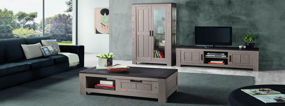 salon moderne orion en ch ne meubles bois massif. Black Bedroom Furniture Sets. Home Design Ideas