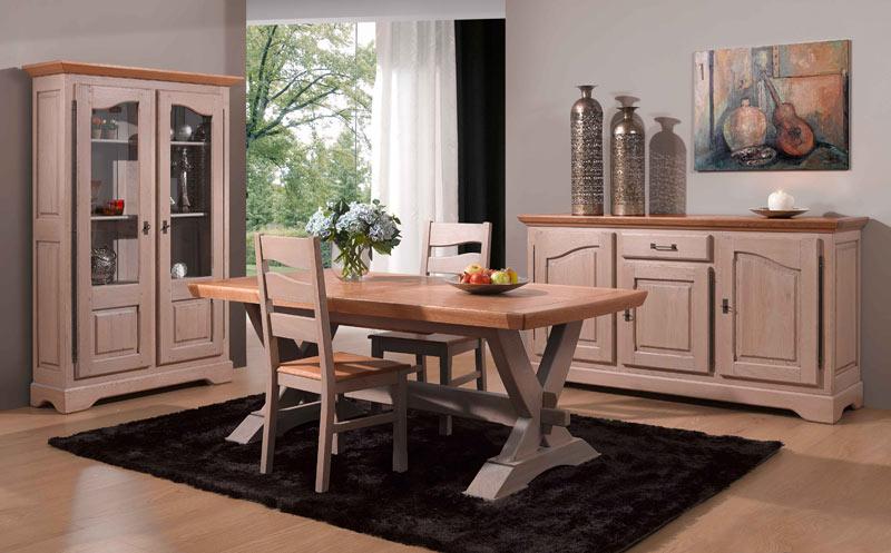 salle manger rustique paris ch ne bi teinte meubles