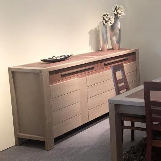 Salle manger rom o bois massif d oregon meubles bois for Salle a manger bois massif