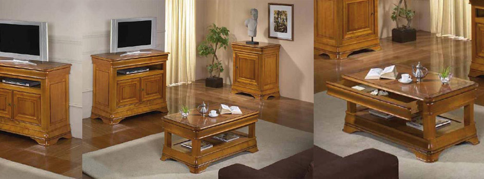 salon s jour classique topaze ch ne ou merisier meubles bois massif. Black Bedroom Furniture Sets. Home Design Ideas