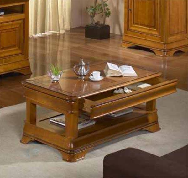 Salon s jour classique topaze ch ne ou merisier meubles for Sejour contemporain bois massif