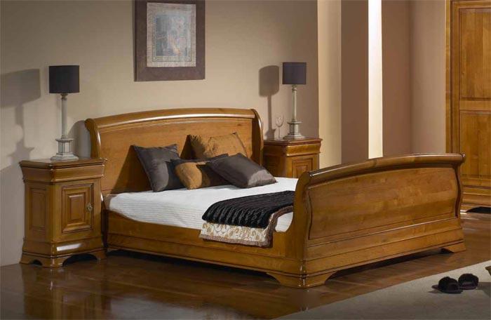 Chambre topaze en ch ne ou merisier massif meubles bois - Chambre a coucher merisier ...