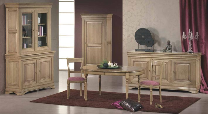 salle manger rustique topaze meubles bois massif. Black Bedroom Furniture Sets. Home Design Ideas