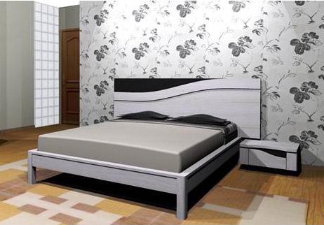 tussy chambre 1 lit. Black Bedroom Furniture Sets. Home Design Ideas