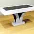 Table basse Tussy pied central