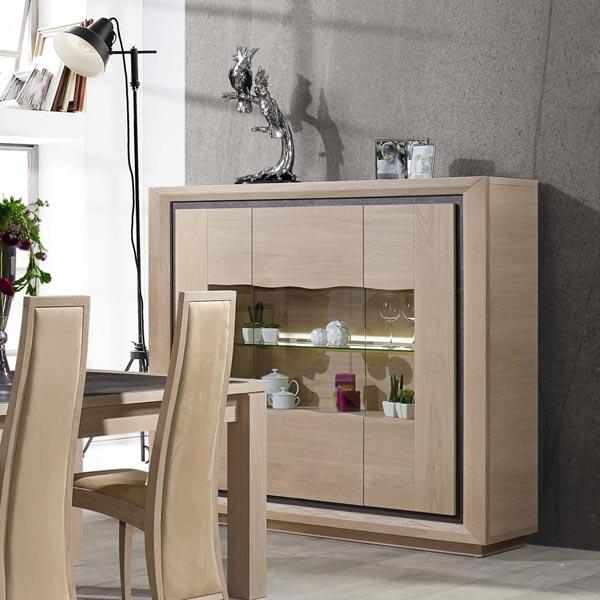 Salle manger contemporain wapa ch ne meubles bois massif for Mobilier salle a manger contemporain