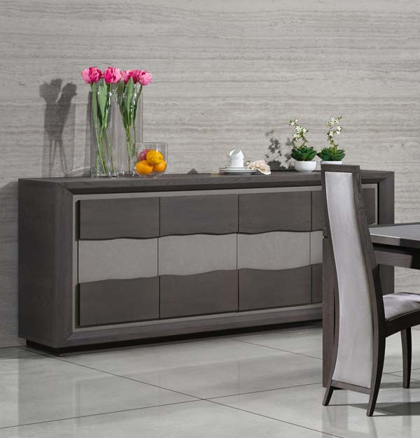Beautiful salle a manger gris anthracite ideas awesome for Meuble salle a manger bois gris