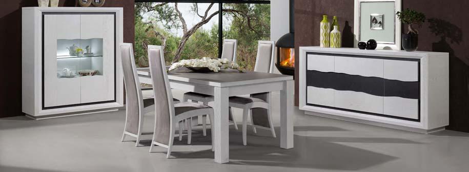 Salle manger en ch ne wapa meubles bois massif for Mobilier salle a manger contemporain