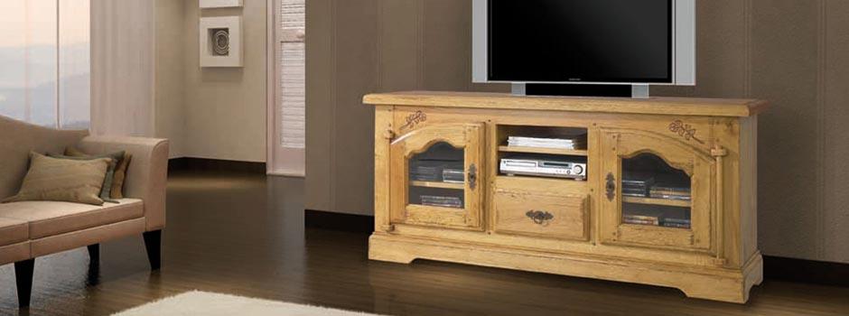 Salon en bois et meubles de séjour - Meubles Bois Massif