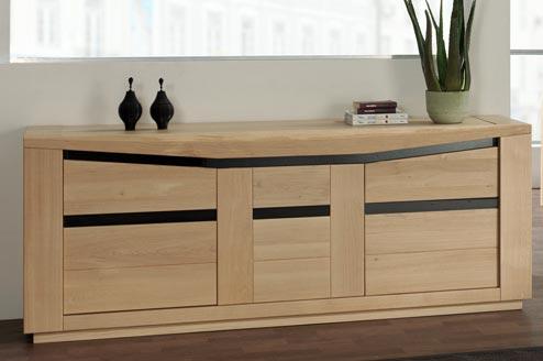 Salle manger moderne ambre en ch ne meubles bois massif - Bahut salle a manger ...