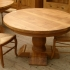 Table a manger ronde rustique