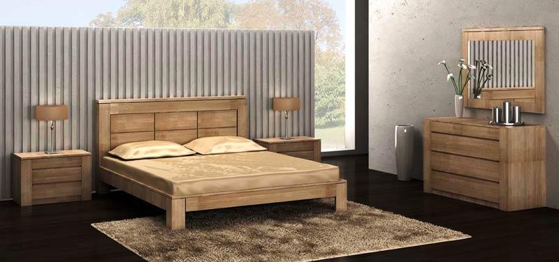 Mobilier de chambre moderne figaro en ch ne meubles bois - Chambre a coucher moderne en bois massif ...