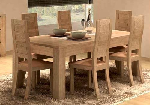 Salle manger design figaro en ch ne meubles bois massif - Table salle a manger chene massif ...